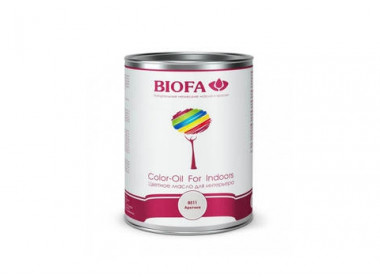Biofa 8511 Арктика. Белое укрывистое масло (BIOFA Color-Oil For Indoors)