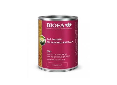 Biofa 2043 Масло защитное для наружных работ с антисептиком