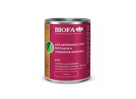 Biofa 5177 Лазурь для дерева на водной основе, белая