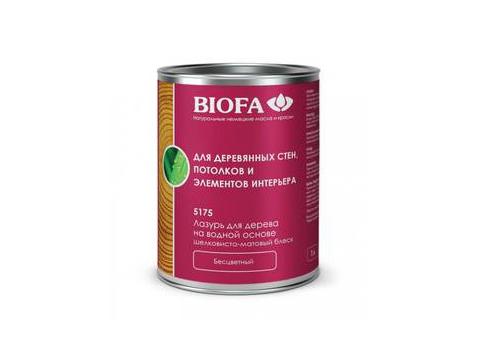 Biofa 5175 Лазурь для дерева на водной основе, бесцветная