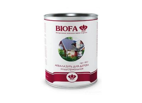 Biofa 8101 Аквалазурь для дерева, индустриальная